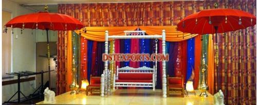 Muslim Wedding Sangeet Stage Set