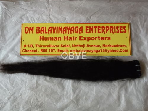 Indian Remy Straight Human Hair Machine Weft