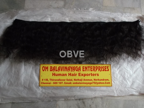 Machine Weft Natural Wavy Human Hair