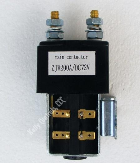 Main Contactor ZJW 72VDC Coils 200Amps