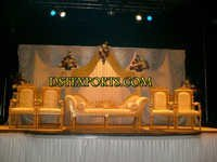 Asian Wedding Golden Furniture Stage Set