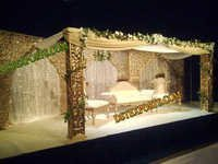 Royal Wedding Gold Palace Stage Set