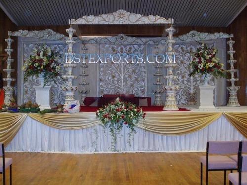 Asian Wedding Fiber Fountain Stage