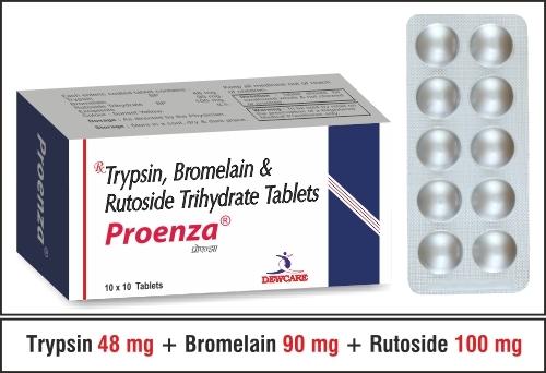 TRYPSIN BROMELAIN RUTOSIDE TRIHYDRATE