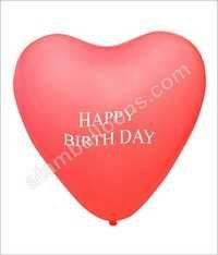 Heart Shaped Rubber Balloon