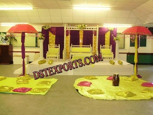 Indian Mehandi Night Stage Set