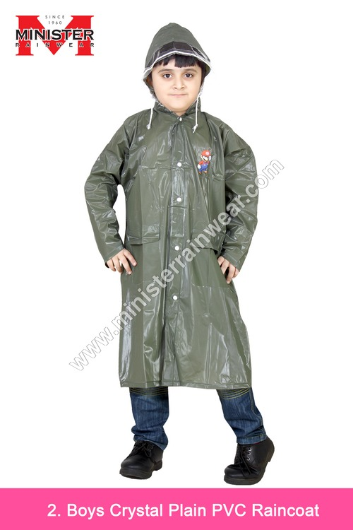 Boys Crystal Plain Raincoat