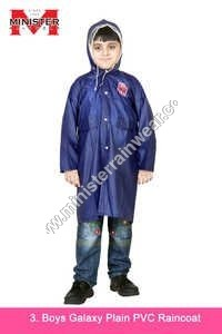 Boys Galaxy Plain PVC Raincoat