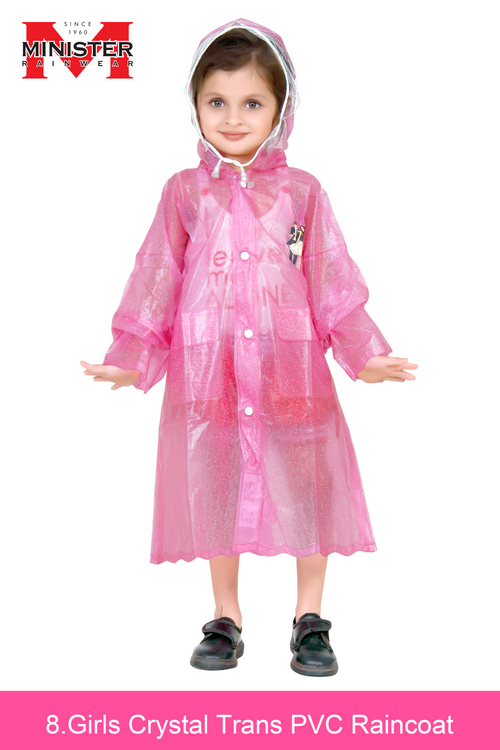 Girls Trans PVC Raincoat