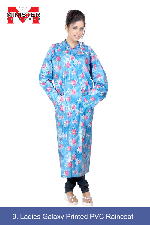 Ladies Galaxy Printed PVC Raincoat