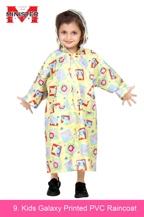 Kids Galaxy Printed PVC Raincoat