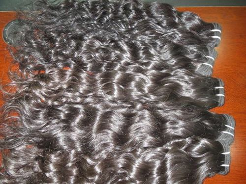 100% TEMPLE INDIAN HUMAN WATER WAVY HAIR