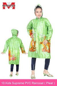 Kids Supreme PVC Raincoat   ( Pleat )