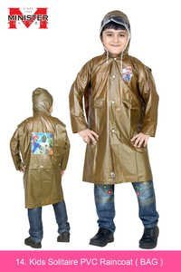 Kids Solitaire PVC Raincoat ( BAG )