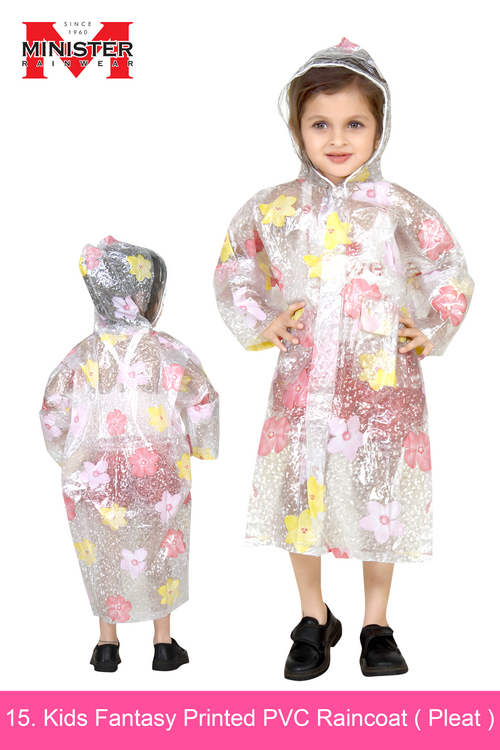 Kids Fantasy Printed PVC Raincoat ( Pleat )