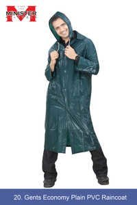 Gents Economy Plain Pvc Raincoat
