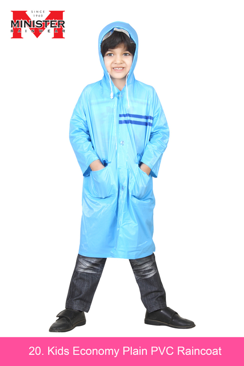 Kids Economy Plain PVC Raincoat
