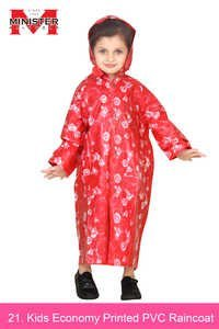 Kids Economy Printed PVC Raincoat