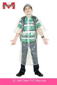 Half Clear PVC Raincoat