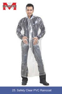 Safety Clear PVC Raincoat