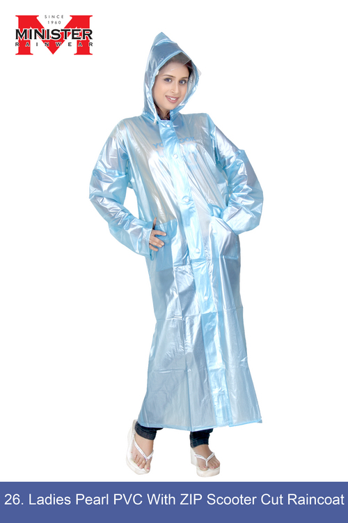 Pearl PVC  Scooter Cut Raincoat