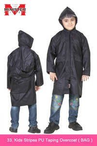 Kids Stripes PU Taping Overcoat ( Bag )