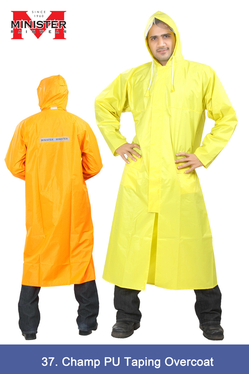 Champ PU taping Overcoat - Yellow