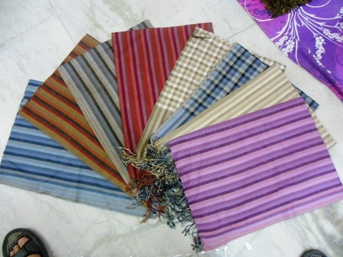 100% woollen check stripes stoles