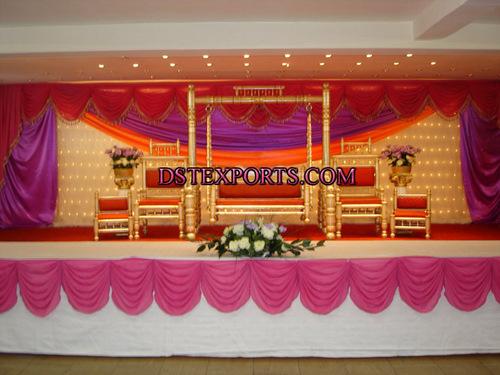 Wedding New Golden Swing Stage