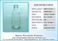 200 ML MILK / JUICE GLASS BOTTLE