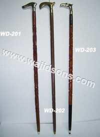 decorative wooden walking stick