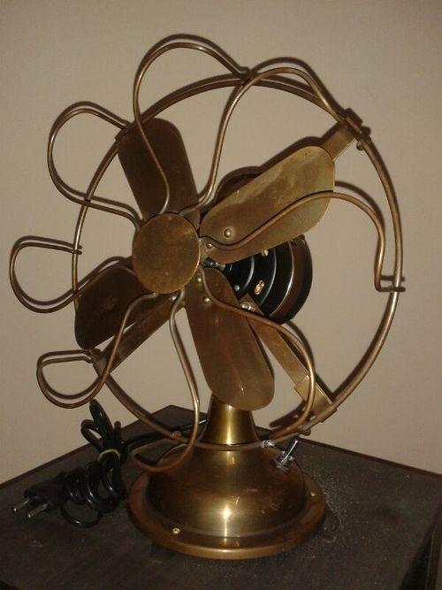 Antique Brass Table Fan