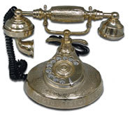 Antique Brass Telephone
