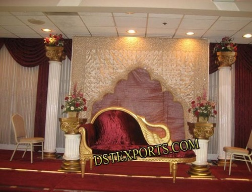 Wedding Stage With Peacock Sofa
