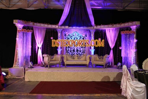 Asian Stage With Crystal Flower Backdrop