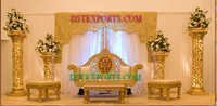 Asian Wedding Gold Decorated Stage