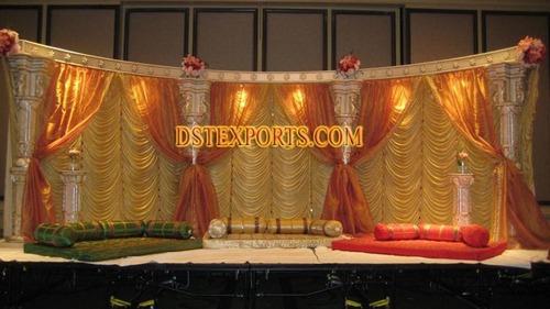 Indian Wedding Pillars Stage