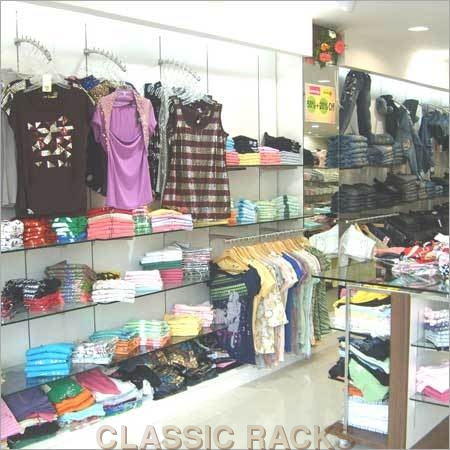 Garment Display Glass Racks