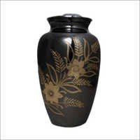 Printed Black Brass Urn
