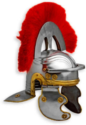 Medieval Roman Centurion Helmet with Brush
