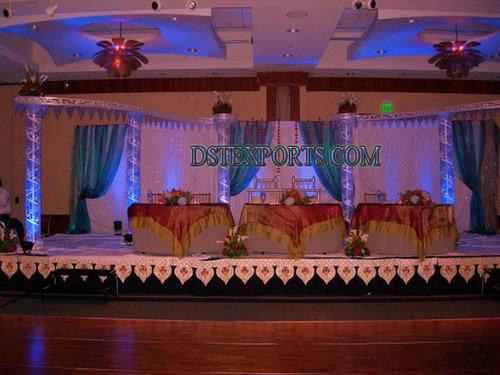 Asian Wedding Metal Crystal Stage