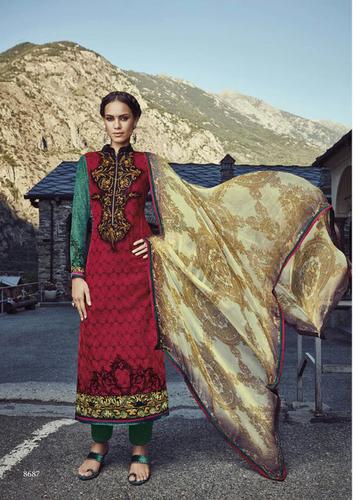 Stylish Party Wear Pashmina Suit