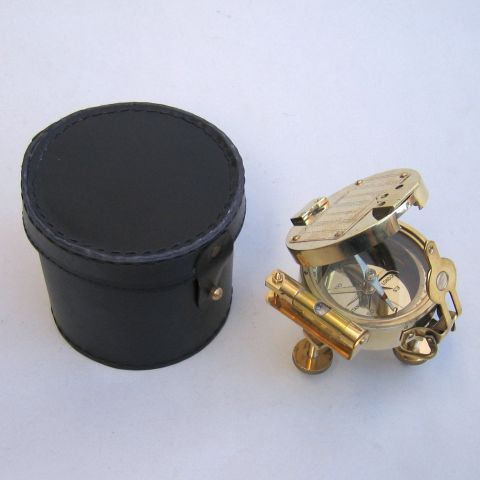 Brass Clinometer With Case