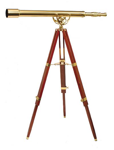Brass Floor Telescope