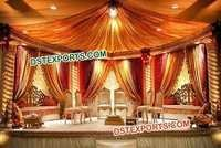 Indian Wedding Spiral Pillars Stage