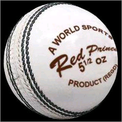 White Cricket Balls (Red Prince)