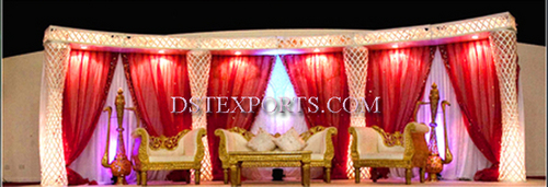 NEW INDIAN WEDDING DECORATED STAGE SET