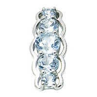 designer blue color stone silver pendant fancy pendant wholesale silver jewelry pendant