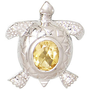 tortoise pendant yellow citrine pendant animal pendant jewelry manufacturer