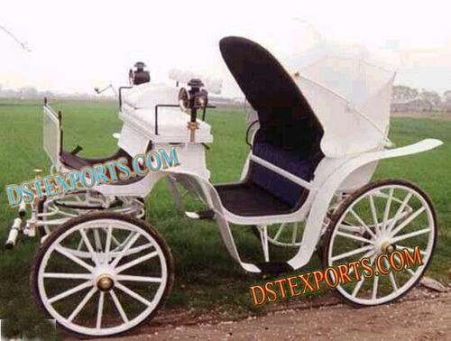 White Victoria Horse Drawn Baghi